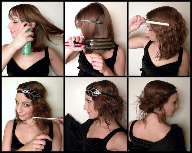 Несложная прическа своими руками на короткие волосы